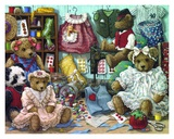 Teddy Bear Wear Print by Janet Kruskamp