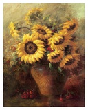 Maria's Sunflowers Plakater av  Walt