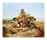 Riding Line Plakater af Charles Marion Russell