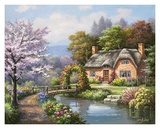 Spring Creek Cottage Art by Sung Kim