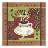 Cafe Exotica I Art by Jennifer Brinley