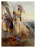Sun Worship in Montana Posters by Charles Marion Russell