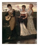 Music in the Fields Poster by Arnold Bocklin