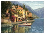 Lake Como Blossom Prints by Haixia Liu