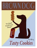 Brown Dog Cookies Poster by Ken Bailey