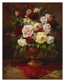 Classical Flower Arrangement Print by  Janek