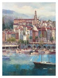 Mediterranean Harbor l Posters by Peter Bell