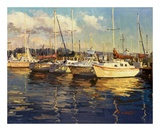 Boats On Glassy Harbor Prints by  Furtesen
