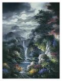 Cañón con niebla nocturna Láminas por James Lee