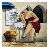 Wine Tasting at Café da Vinci II Prints by Ronald West