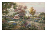 Razzberry Creek Crossing Prints by Carl Valente
