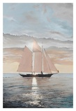 Schooner in the Sun Prints by Robert G. Radcliffe