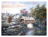 Pheasant River Bridge Print by Carl Valente