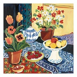 Lemons and Flowers Affiches par Suzanne Etienne