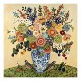 Quail Floral Affiche par Suzanne Etienne