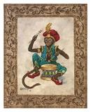 Monkey with Drum Reprodukcje autor Janet Kruskamp