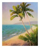 Palms On The Beach I Posters by Karen Dupré