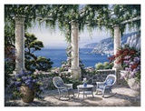 Mediterranean Terrace Prints by Sung Kim