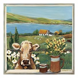 Cow in Window Posters by Suzanne Etienne