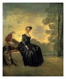 La Boudeuse, 1718 Prints by Antoine Watteau