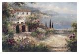 Villa méditerranéenne Posters par Peter Bell