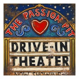 Drive In Theater Print by Janet Kruskamp