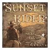 Sunset Rider Prints by Janet Kruskamp