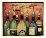 Cork Screws and Wine Print by Susan Winget