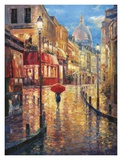 Montmartre Evening Print by Haixia Liu
