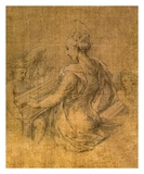 Lady with Angels Plakater af Parmigianino