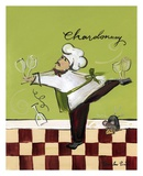 Wine Chef Chardonnay Prints by Jennifer Sosik
