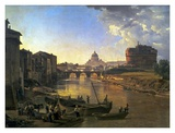 New Rome, Castel Sant'Angelo, 1823 Posters by Silvester Shchedrin