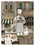 Chef with Wine Posters by Betty Whiteaker