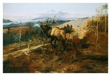 The Elk Prints by Charles Marion Russell