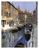 La Barche Sul Canale Prints by Guido Borelli