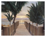 Palm Promenade Poster by Diane Romanello