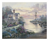 Light House Point Print by Carl Valente
