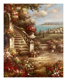 Flowers at the Stairs Print by  Horwich