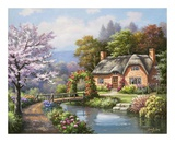 Spring Creek Cottage Prints by Sung Kim