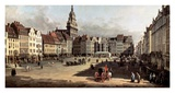 Dresden, the Old Market from Castle Street Poster by Bernardo Bellotto