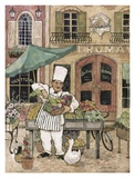 Chef at Market Poster by Betty Whiteaker