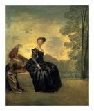La Boudeuse, 1718 Posters af Jean Antoine Watteau