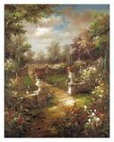 Rose Promenade Print by  Gabriela