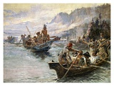 Lewis and Clark on the Lower Columbia Posters af Charles Marion Russell