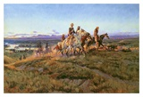 Men of the Open Range Art by Charles Marion Russell