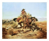 Riding Line Print by Charles Marion Russell