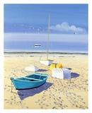 Båt på stranden Posters av Henri Deuil