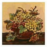 Cuenco de uvas Láminas por Suzanne Etienne