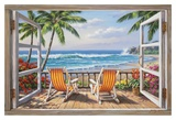 Tropical Terrace for Two Affiches par Sung Kim