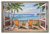 Tropical Terrace for Two Affiches par Sung Kim